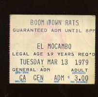 Boomtown Rats at The El Mocambo, March 13, 1979