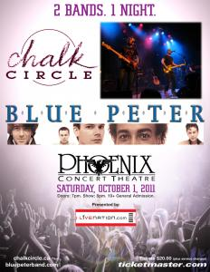 Blue Peter and Chalk Circle - Phoenix Concert Theatre - October 1, 2011