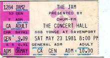 The Jam, Concert Hall May 23, 1981